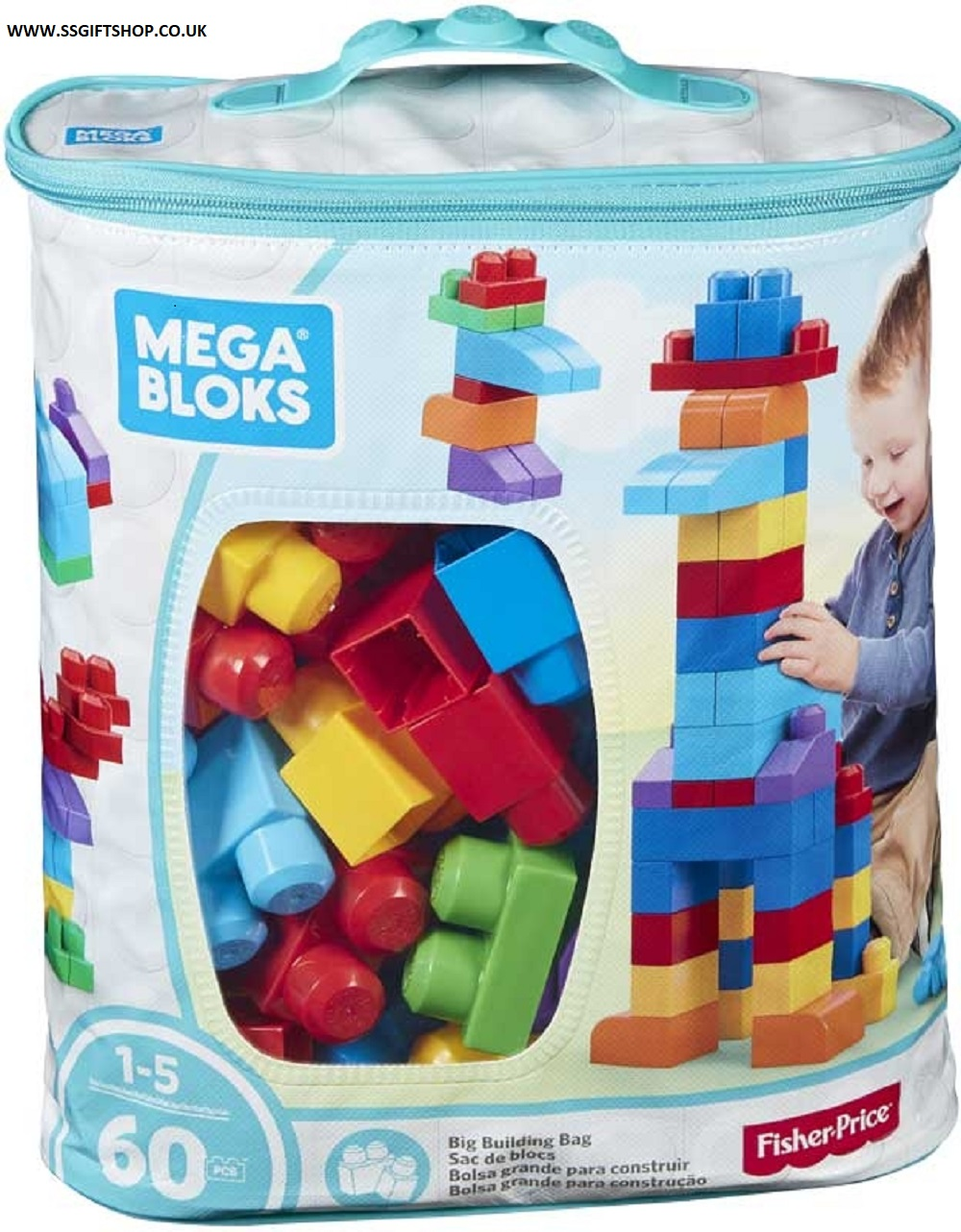 MEGA BLOKS SET 60PC BLUE