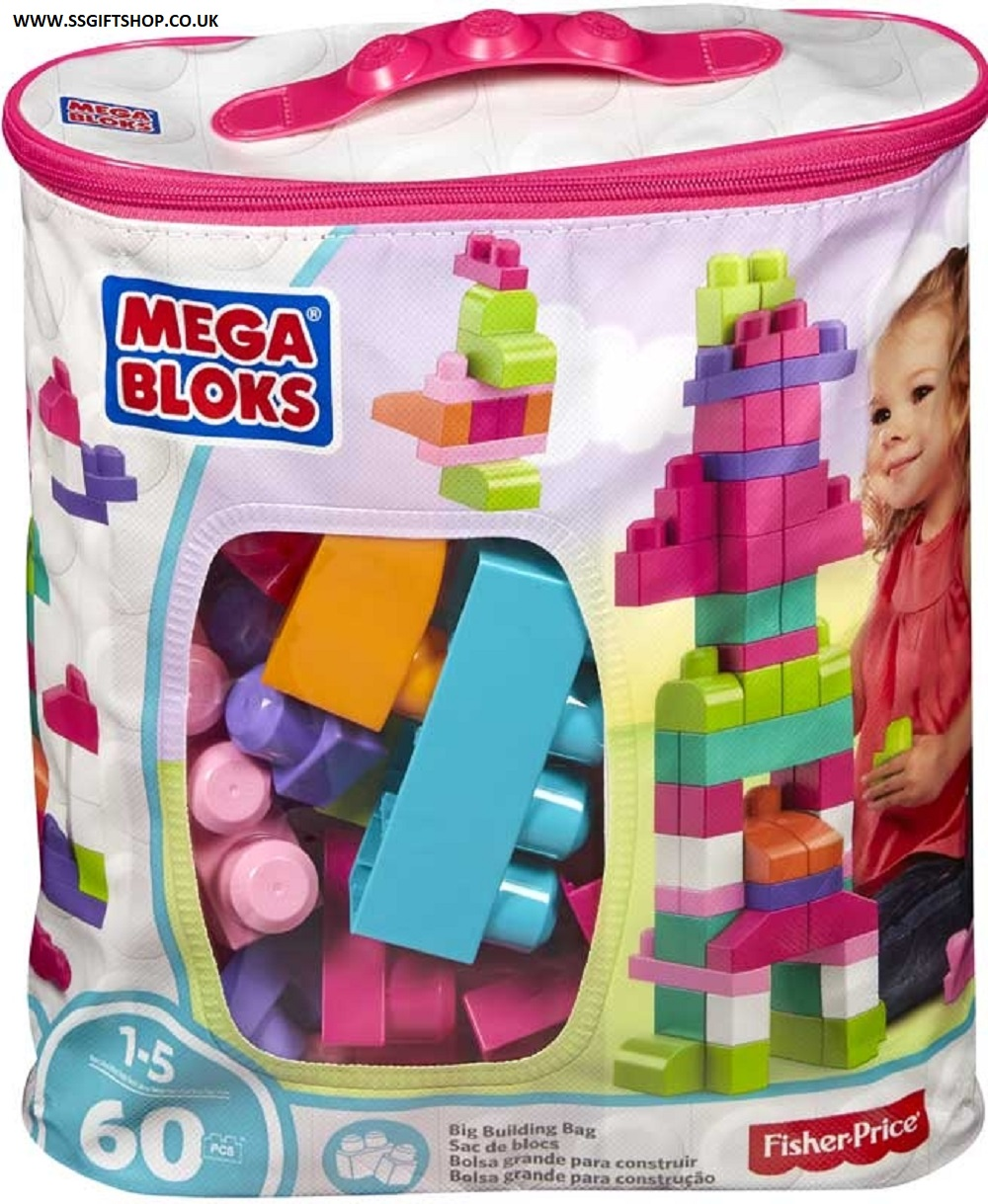 MEGS BLOCK SET 60 PC PINK