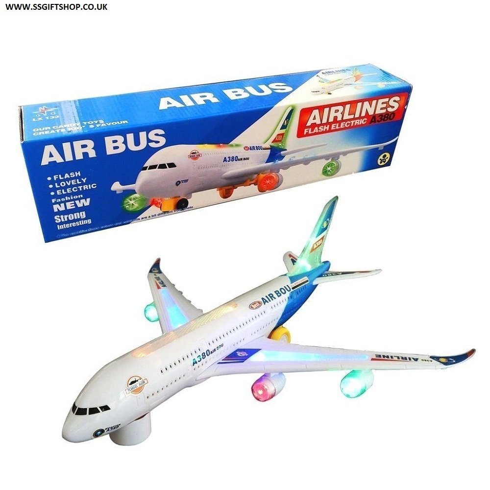 Large Air Bus A380 Plane Bump and Go flashing Lights & Music.