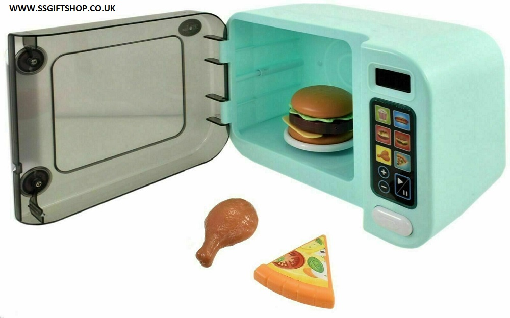 KIDS BOYS & GIRLS My First Kitchen Microwave Oven Realistic Role Play Lights & Sounds.