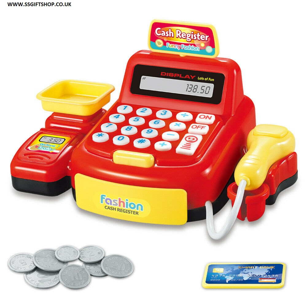 BOYS & GIRLS Supermarket Till - Cash Register Toy.